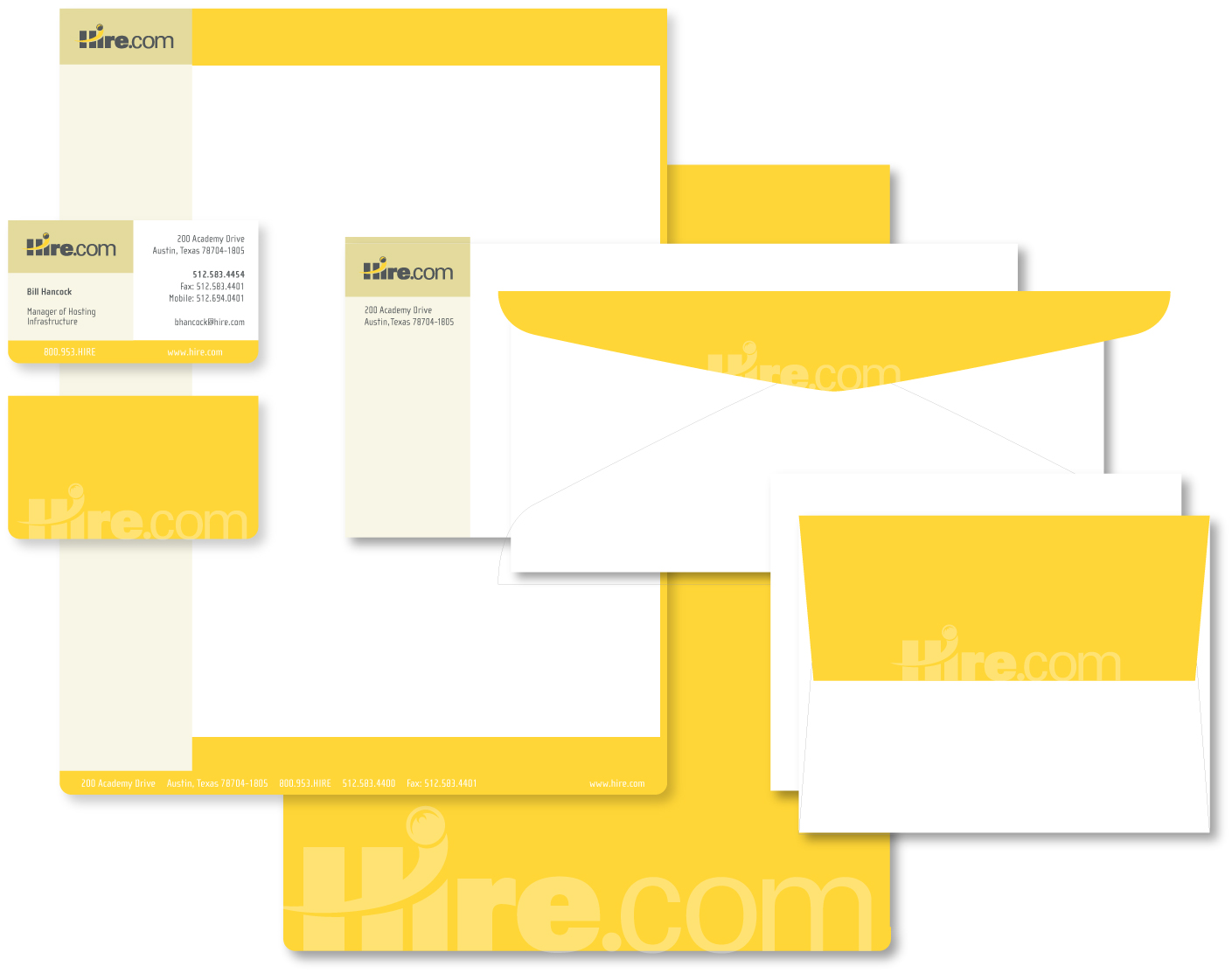 Hire.com Stationery System