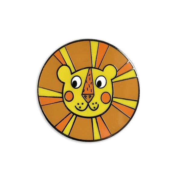 Sunny the Retro Lion Enamel Pin  from Auntie Mims