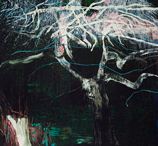 """Infinite Longing 1, 2014 oil, house paint, shellac on canvas 66"""" x 72"""""""