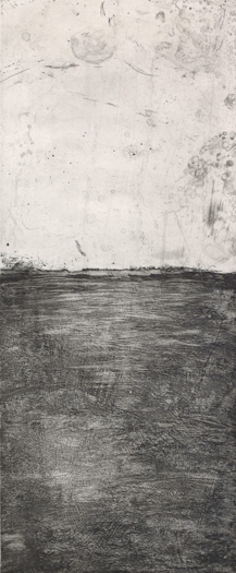 """Landscape Companion, 2007 etching plate size"""" 20"""" x 9"""""""