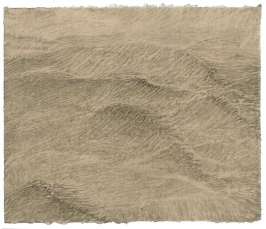"Sea State Medium #1, 2011 pencil on paper 17"" x 20"""