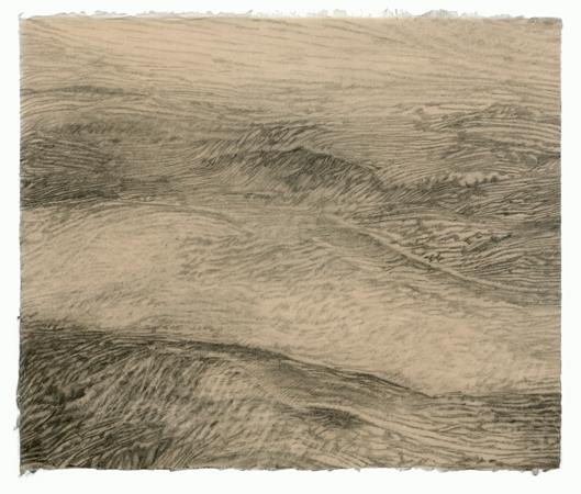 "Sea State Medium #2, 2011 pencil on paper 17"" x 20"""