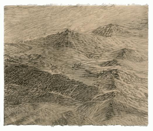 "Sea State Medium #3, 2011 pencil on paper 17"" x 20"
