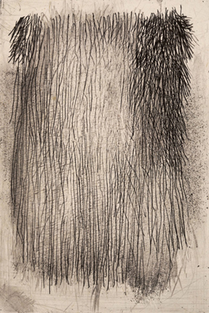 """Lines Etching A, 2007 intaglio etching plate size: 6"""" x 4"""""""