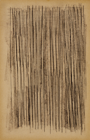 """Lines Rubbing 18, 2002 pencil on paper 7"""" x 5"""""""