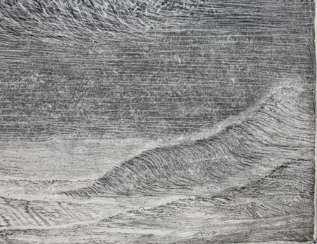 """Sea State Diptych (detail) , 2011 pencil/pastel/charcoal on paper 79"""" x 158"""""""