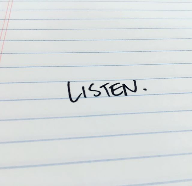 Intention Day 447: Listen.  I'm not sure I masters this one yet but at least I'm working on it.  #theintentionproject #intention365 #listen #parenting #kids #listenmorethantalk