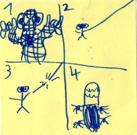 childish spiderman comic