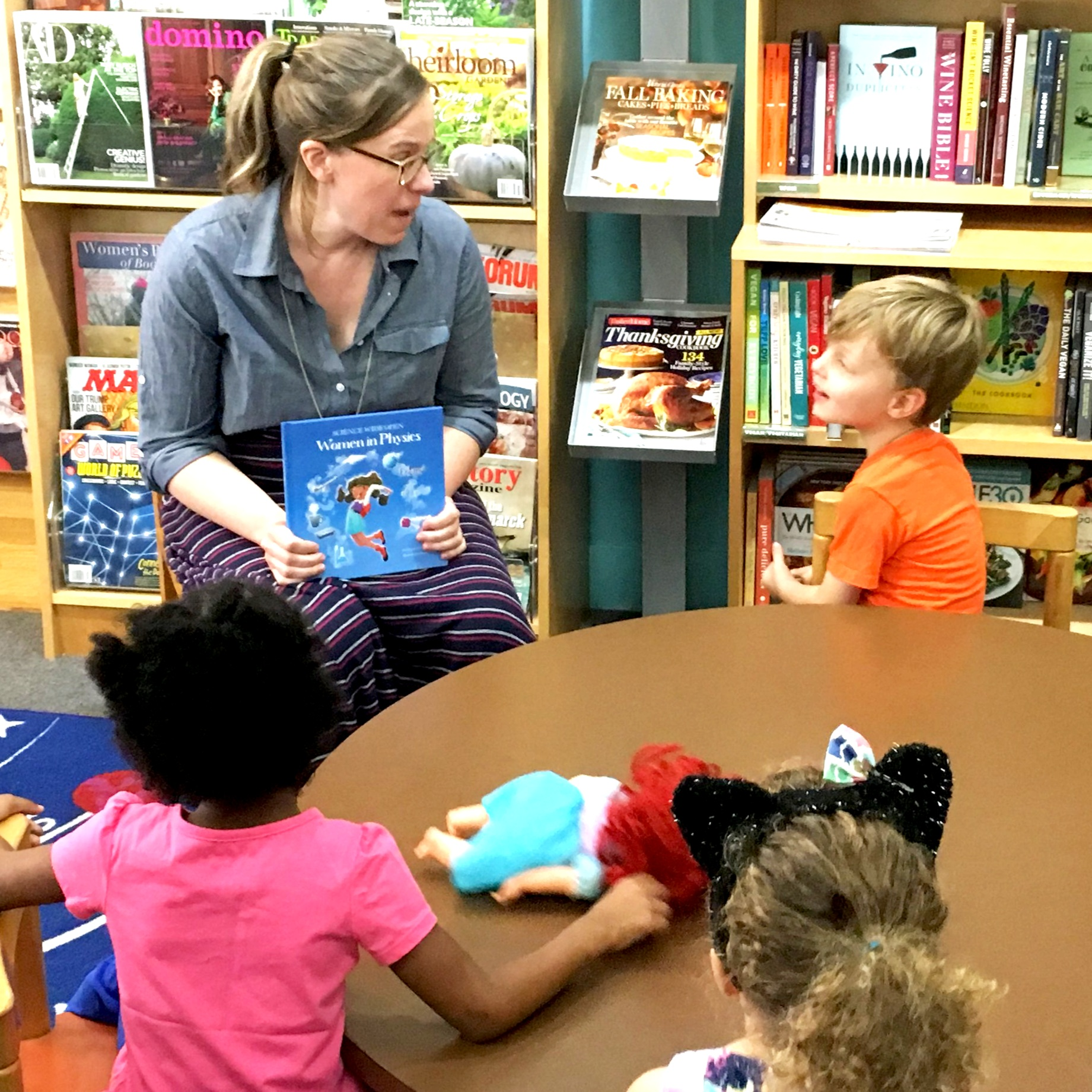 Mary and kiddos at storytime.