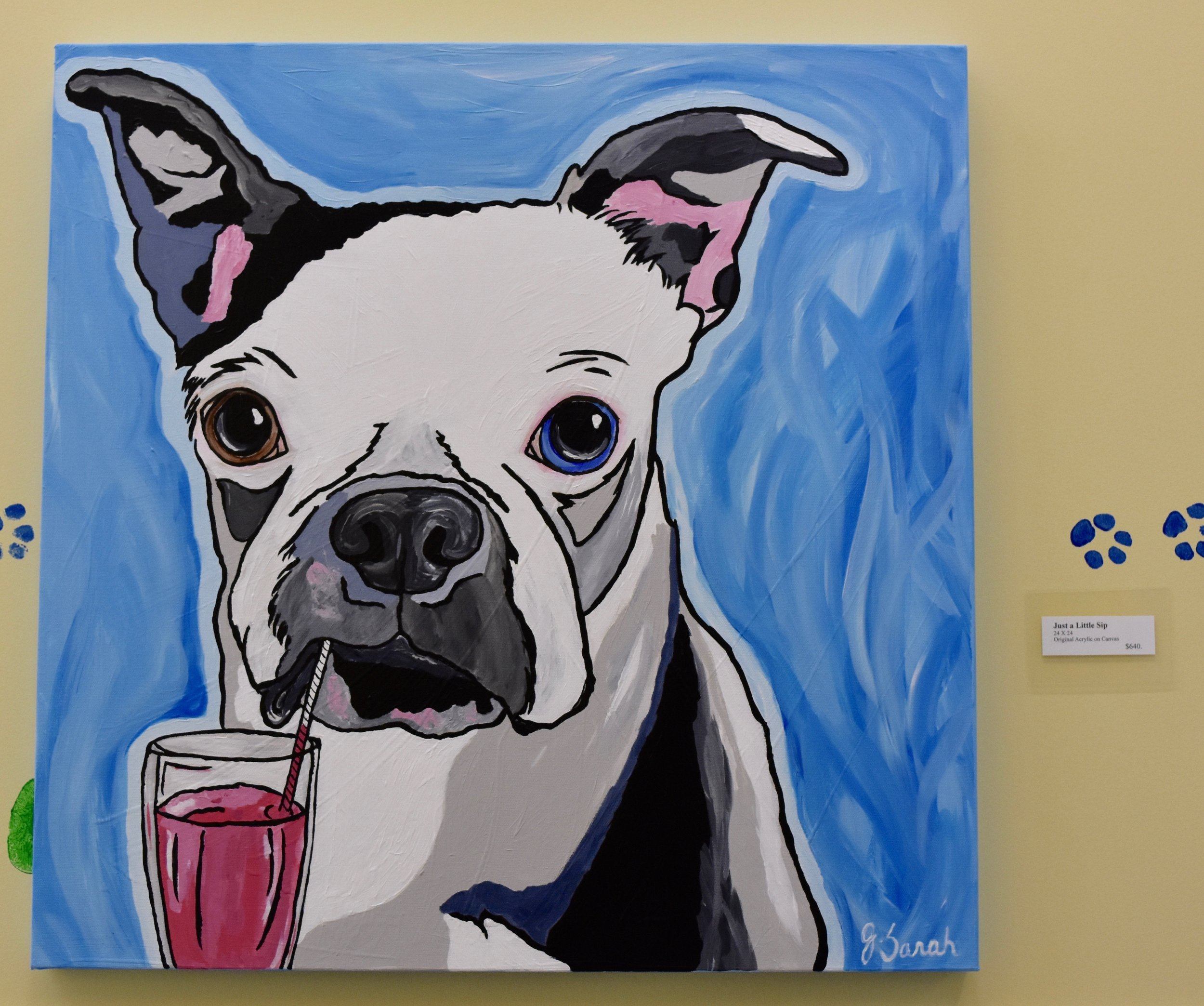 """Just a Little Sip"" 24"" X 24"" Acrylic on Canvas, $640.00"