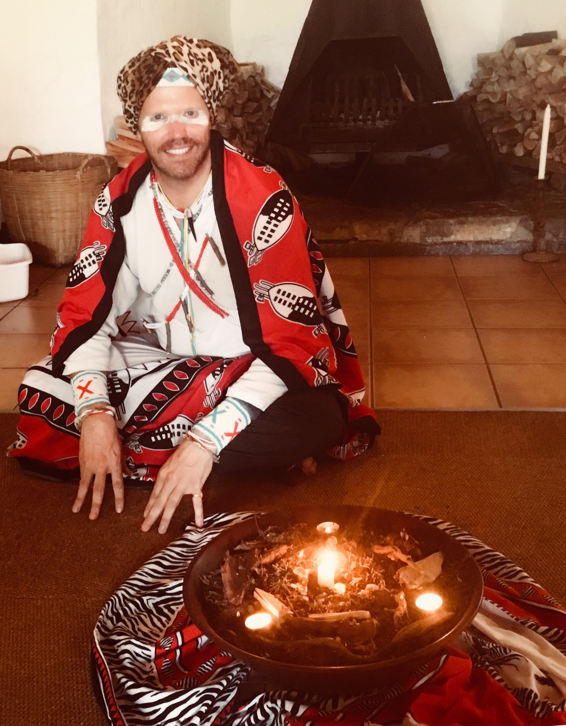 John performing ceremony in Zululand, South Africa