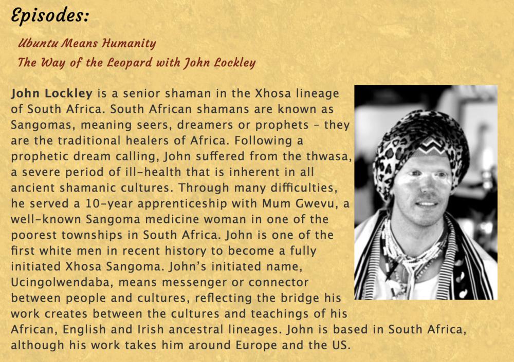 Episodes Shamanism, Shaman, African Shaman, Sangoma, John Lockley.png