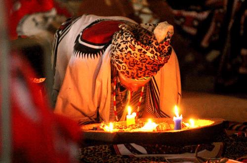 Ceremonies Shamanism, Shaman, African Shaman, Sangoma, John Lockley.png