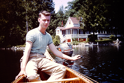 George at the lake house on Canobie Lake in Salem, New Hampshire