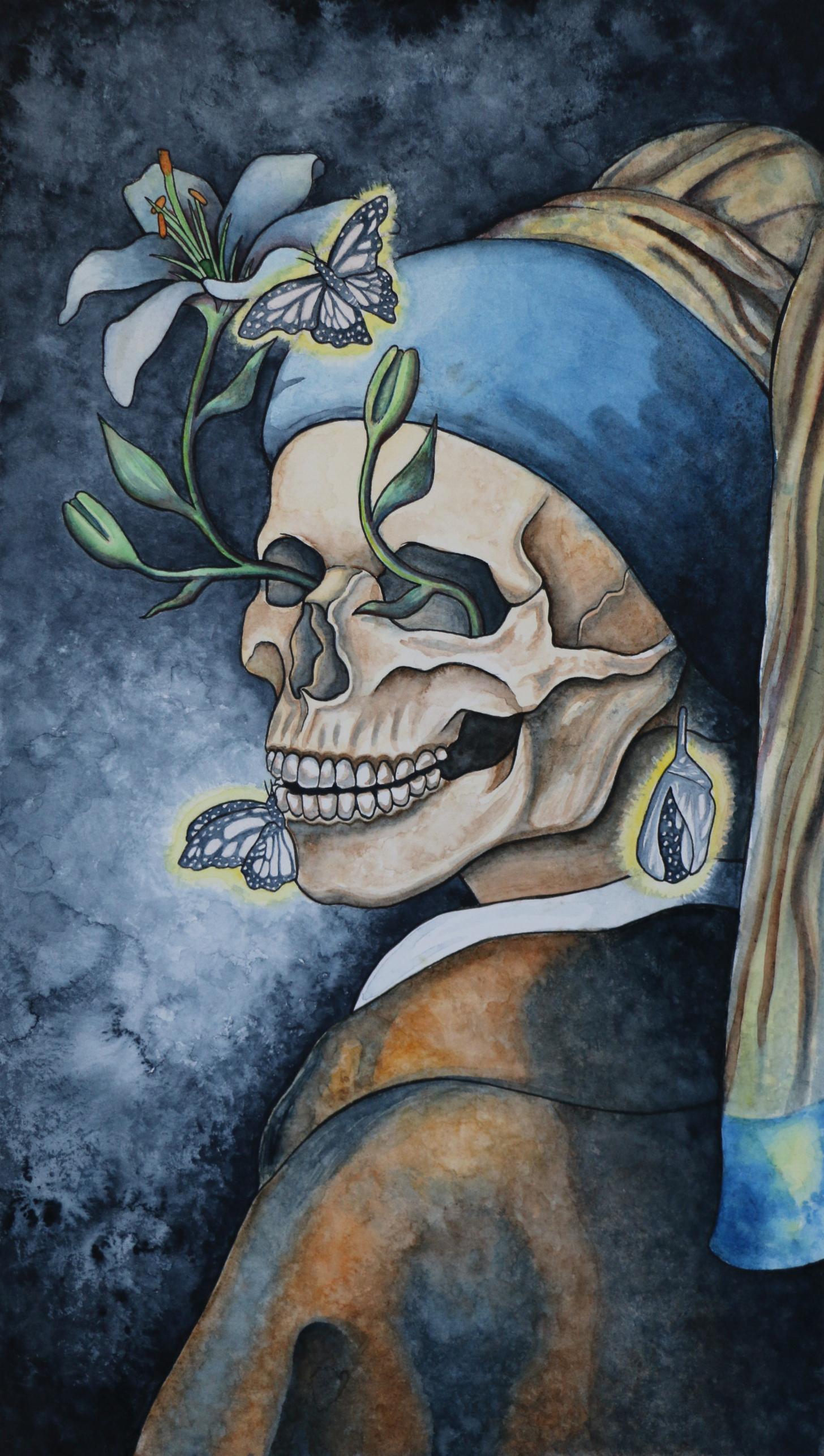 Death / watercolor & pen / 2017