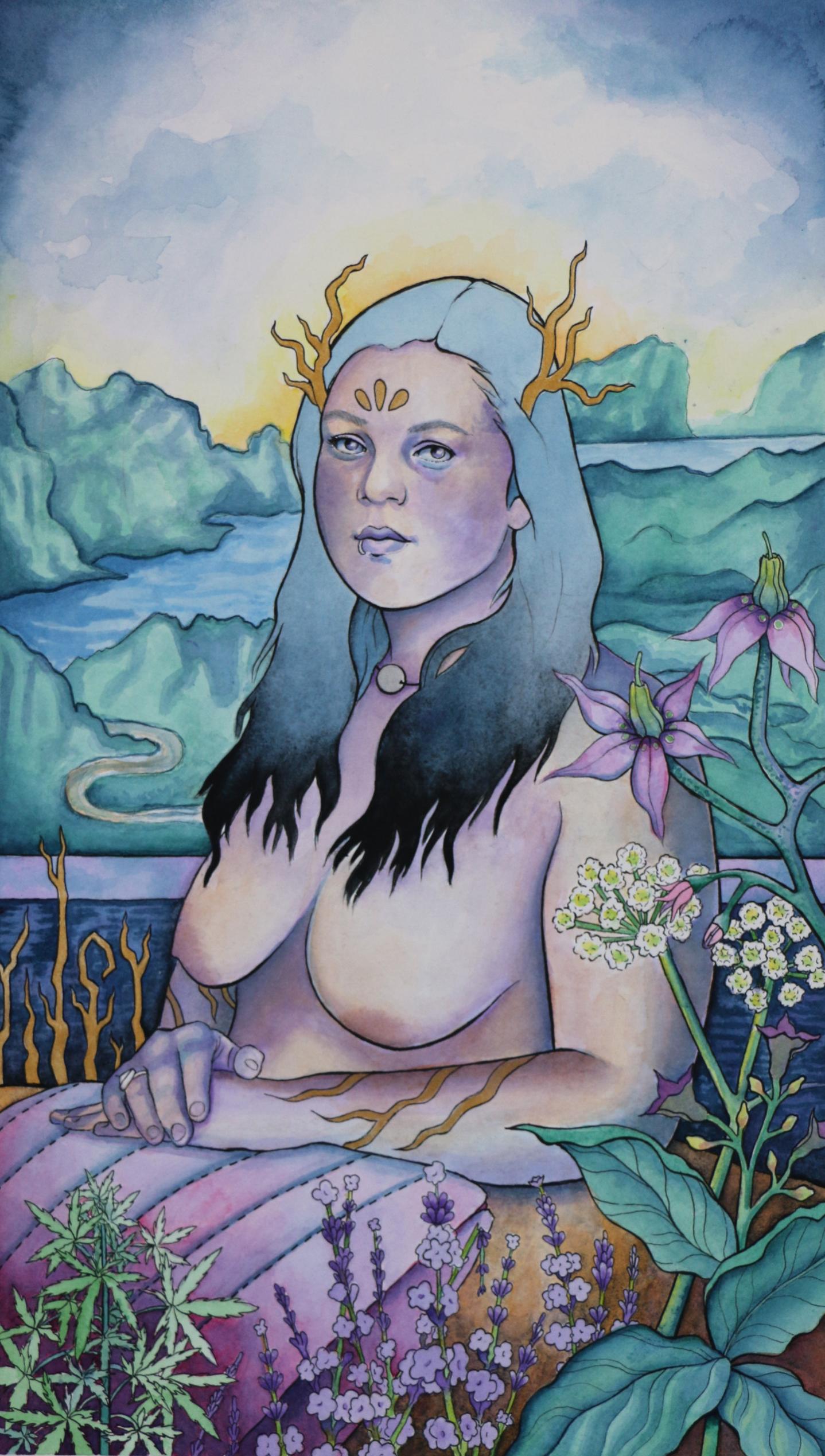 The Empress / watercolor & pen / 2017