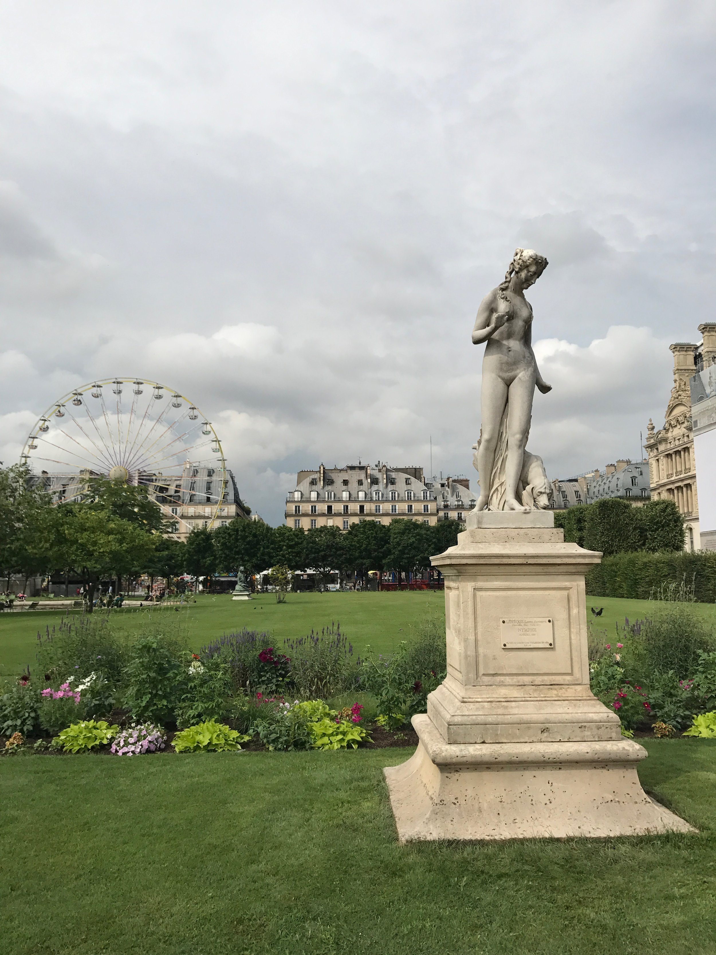 One of my favorite views of the Right Bank from The Tuileries.