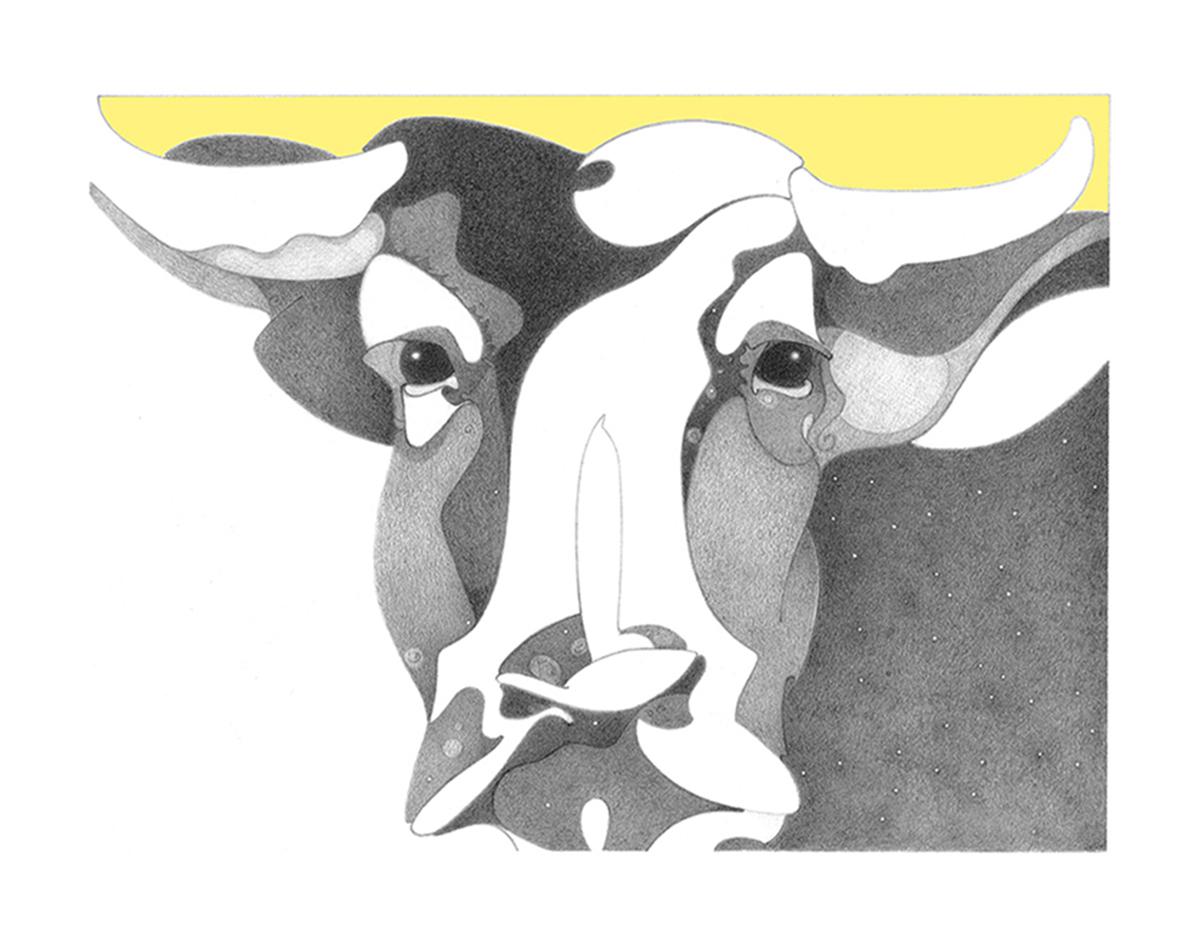 Cosmic Series - LightDark , design for serigraphic print, copyrighted by Kathleen Zimmerman