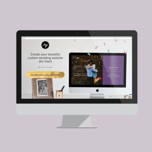 Joy Wedding Website.Katie Rezaei