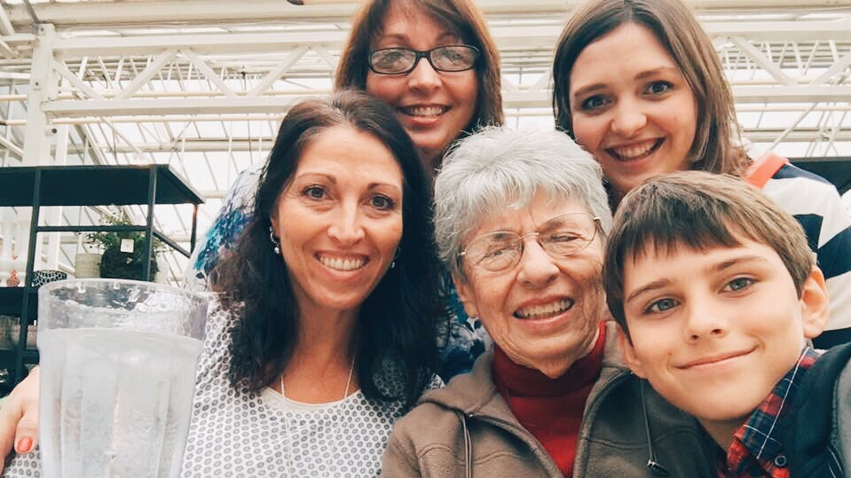 My beautiful mother, aunt, grandma (the woman of the hour) and youngest cousin.