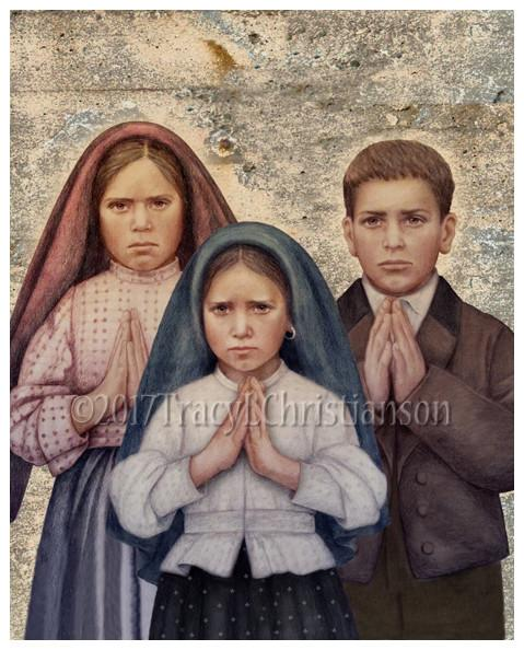 Fatima Children Feast Day: February 20th - Francisco Marto (June 11, 1908 – April 4, 1919), his sister Jacinta Marto (March 11, 1910 – February 20, 1920)and their cousin Lucia Santos (1907–2005) Known as the children of Fatima witnessed three apparitions of an angel in 1916 and several apparitions of theBlessed Virgin Mary in 1917. The siblings were victims of the great 1918 influenza epidemic that swept through Europe that year. These 2 little souls suffered much before they died and offered it all for the conversion of sinners.