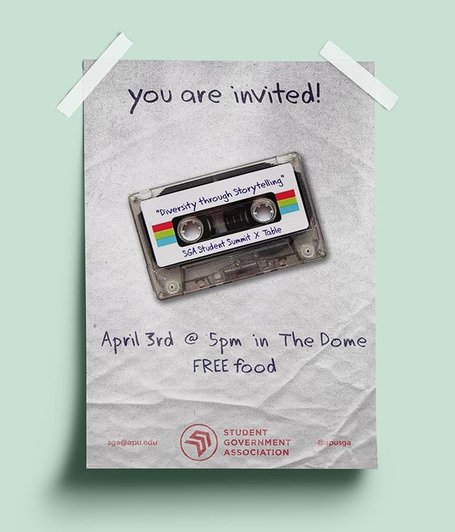 Join us at The Table this Wednesday in the Dome at 5pm for great conversation and FREE FOOD!!! This year we will be focusing on Diversity Through Storytelling- you won't want to miss it! RSVP through the link in our bio.