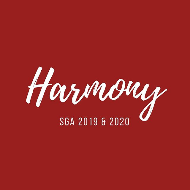 hello & welcome from SGA 2019 & 2020. we cannot wait to work together in | h a r m o n y | this year!