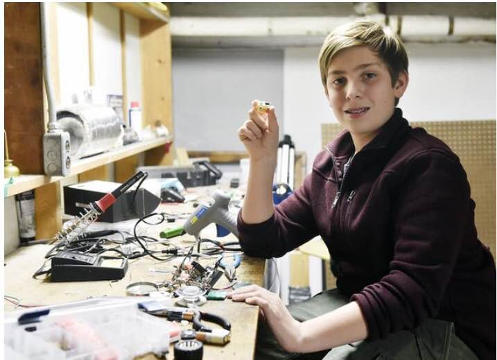 Sam Brenner Tinkering with Robots