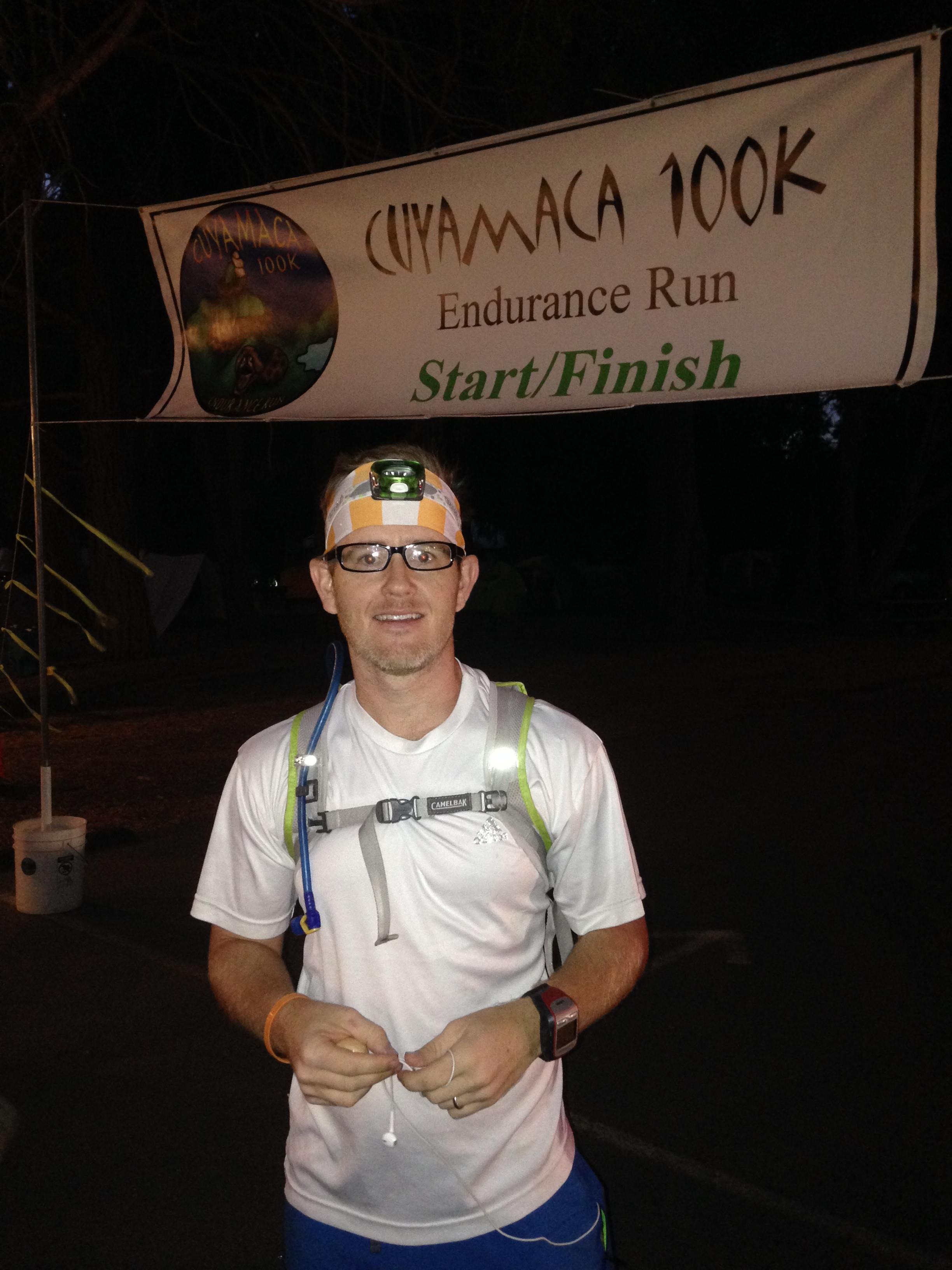 Start of the Cuyamaca 100k Run, 2014
