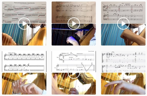 Some sample videos from the 15 Second Harp Instagram page