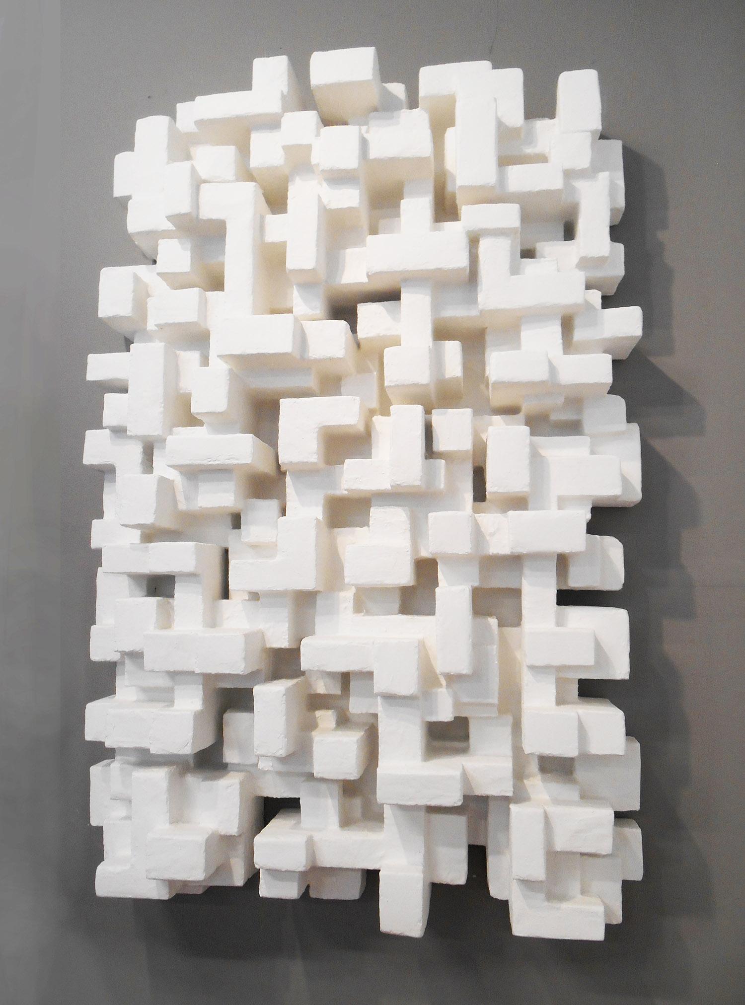 """SANTIAGO, mixed Media, 30"""" x 48"""" x 9"""", 2015"""