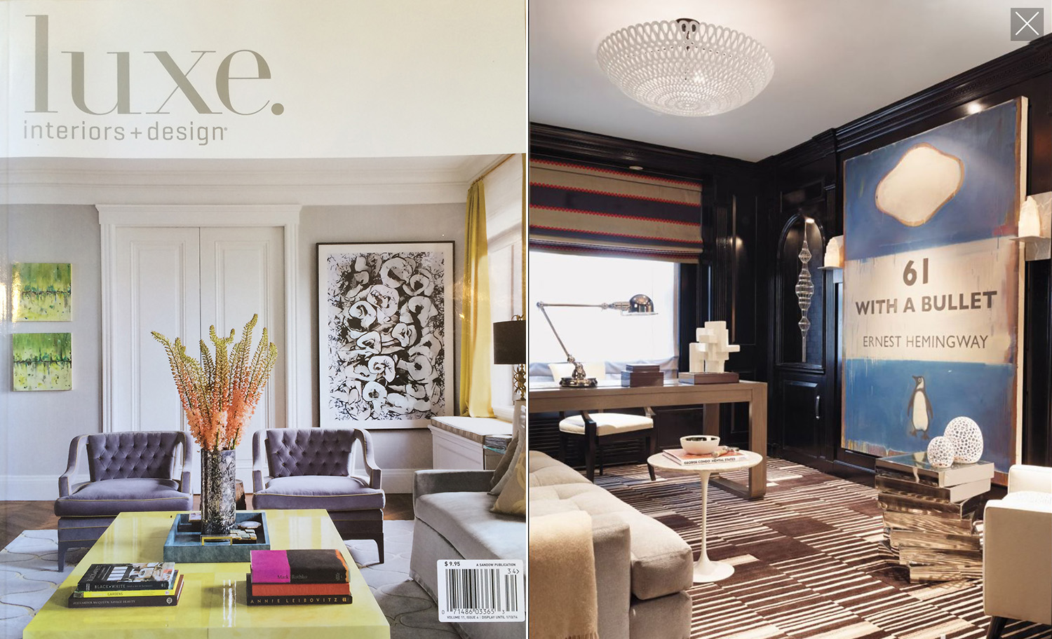 "LUXE INTERIORS + DESIGN, ""Uptown Oasis,"" Fall 2013"