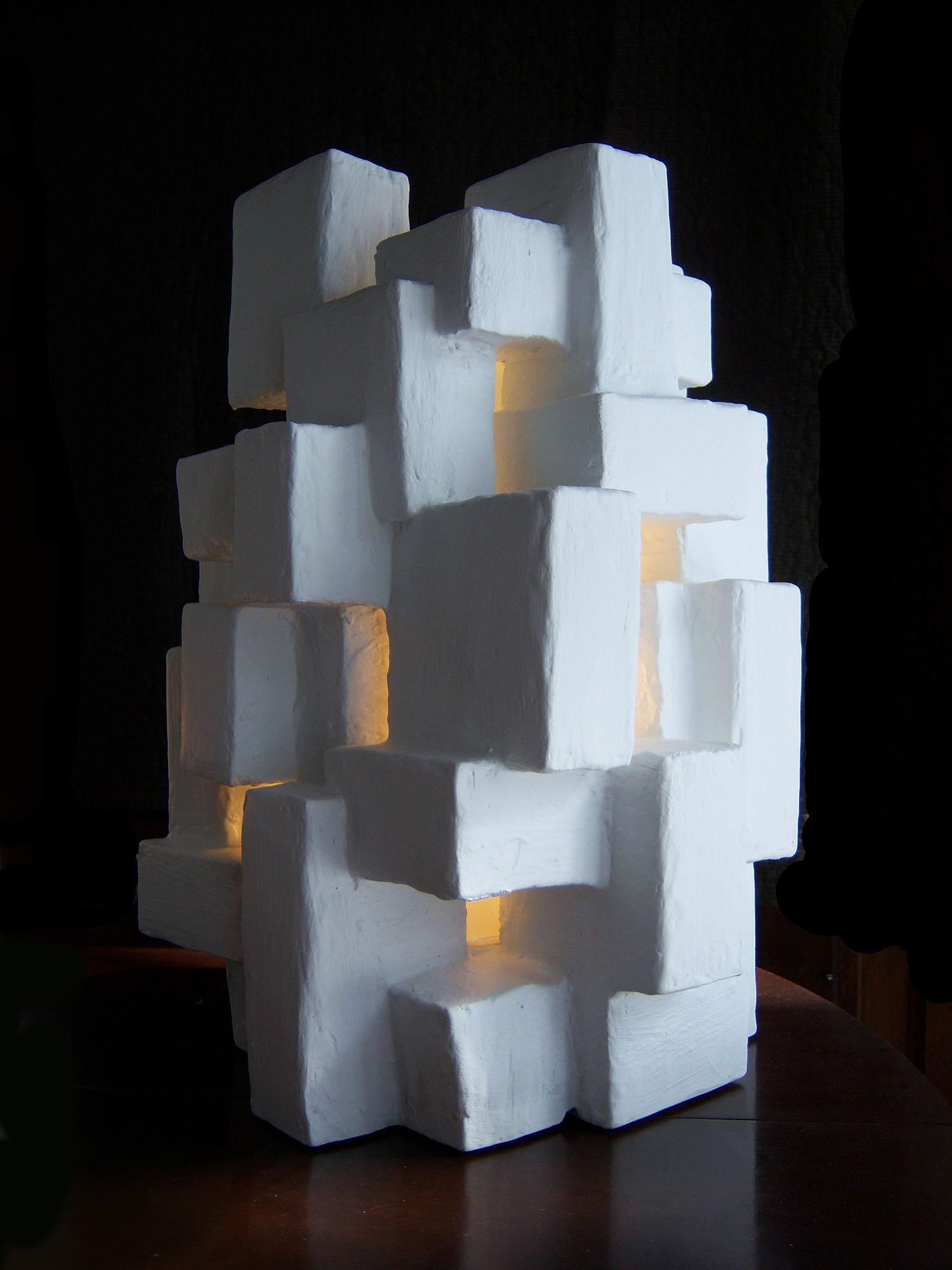 """GOTHAM LIGHT SCULPTURE I, Mixed Media, 18"""" x 10"""" x 9"""", 2012"""
