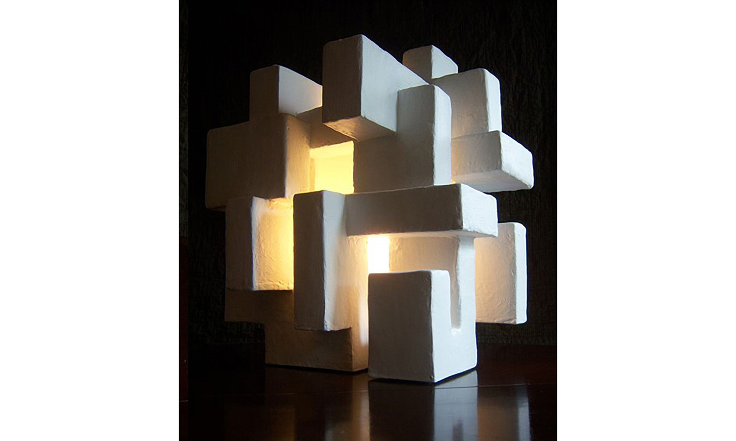 "ABITARE LIGHT SCULPTURE, mixed media, 18"" x 16"" x 12"", 2012"