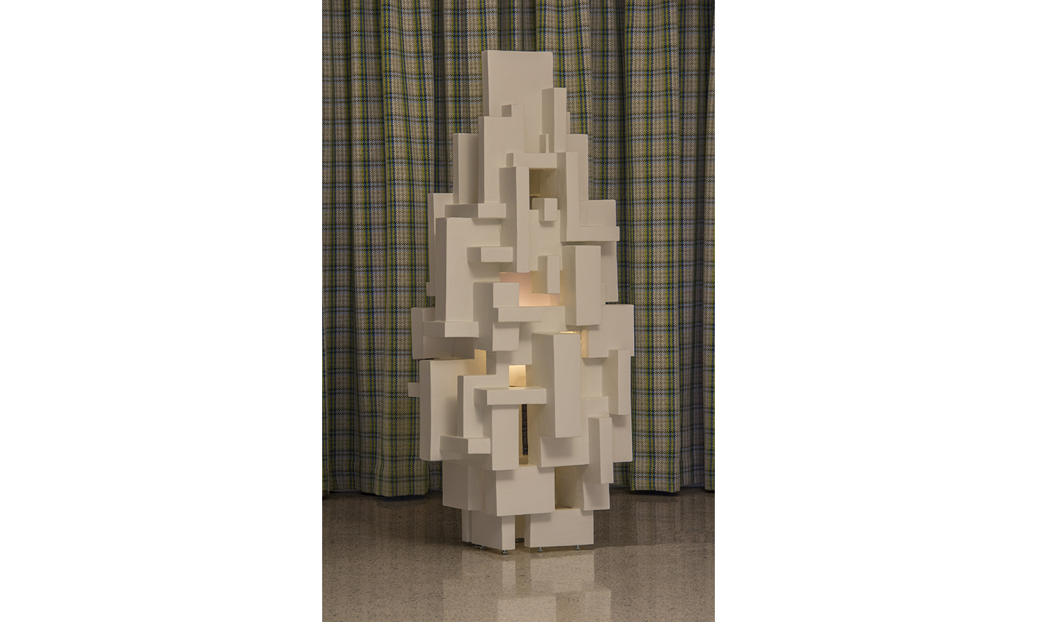 "GOTHAM OUTDOOR LIGHT SCULPTURE, 5'-0"" tall, 2018"