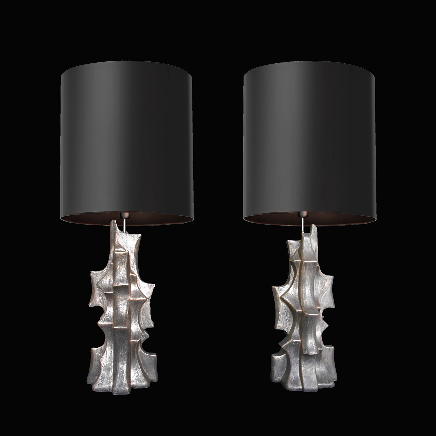 "ORGANIC TABLE LAMPS, 21"" tall, 2018"