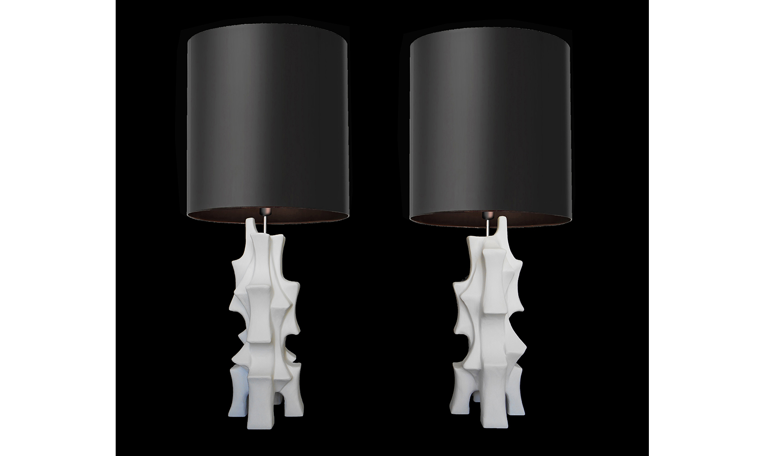 """ORGANIC TABLE LAMPS, 20"""" tall , 2019"""