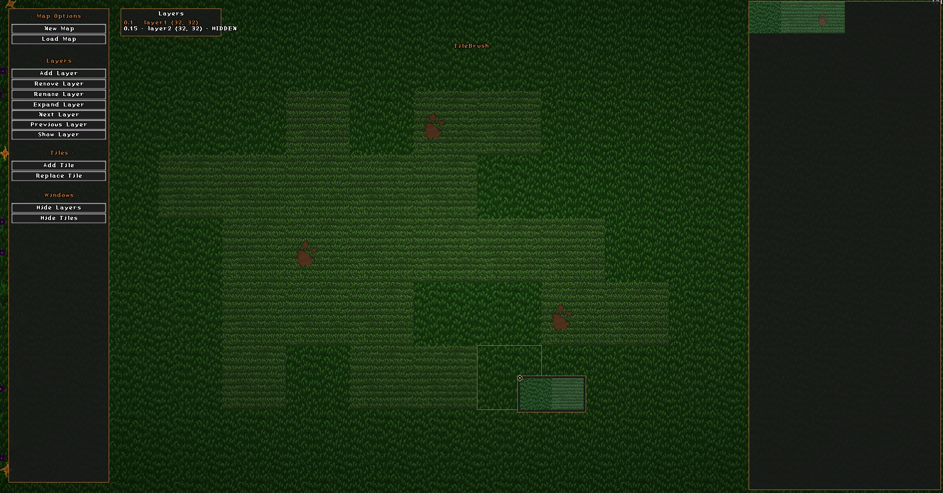 The Tile Editor, very useful for speeding up map editing.