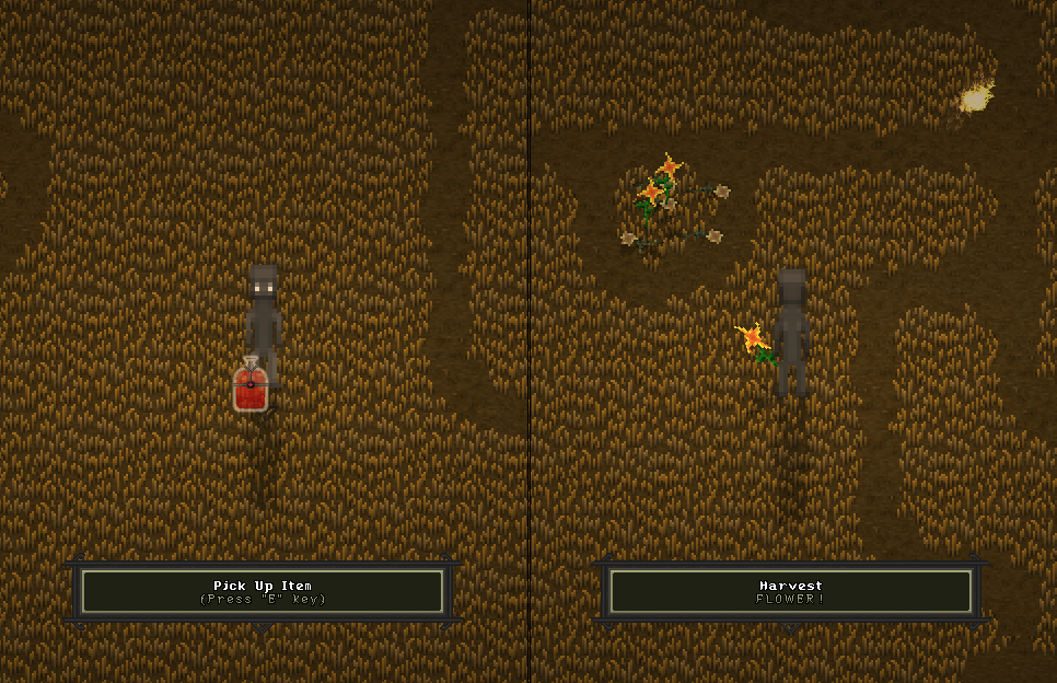 Item Activation (left), Flora Harvesting (right)