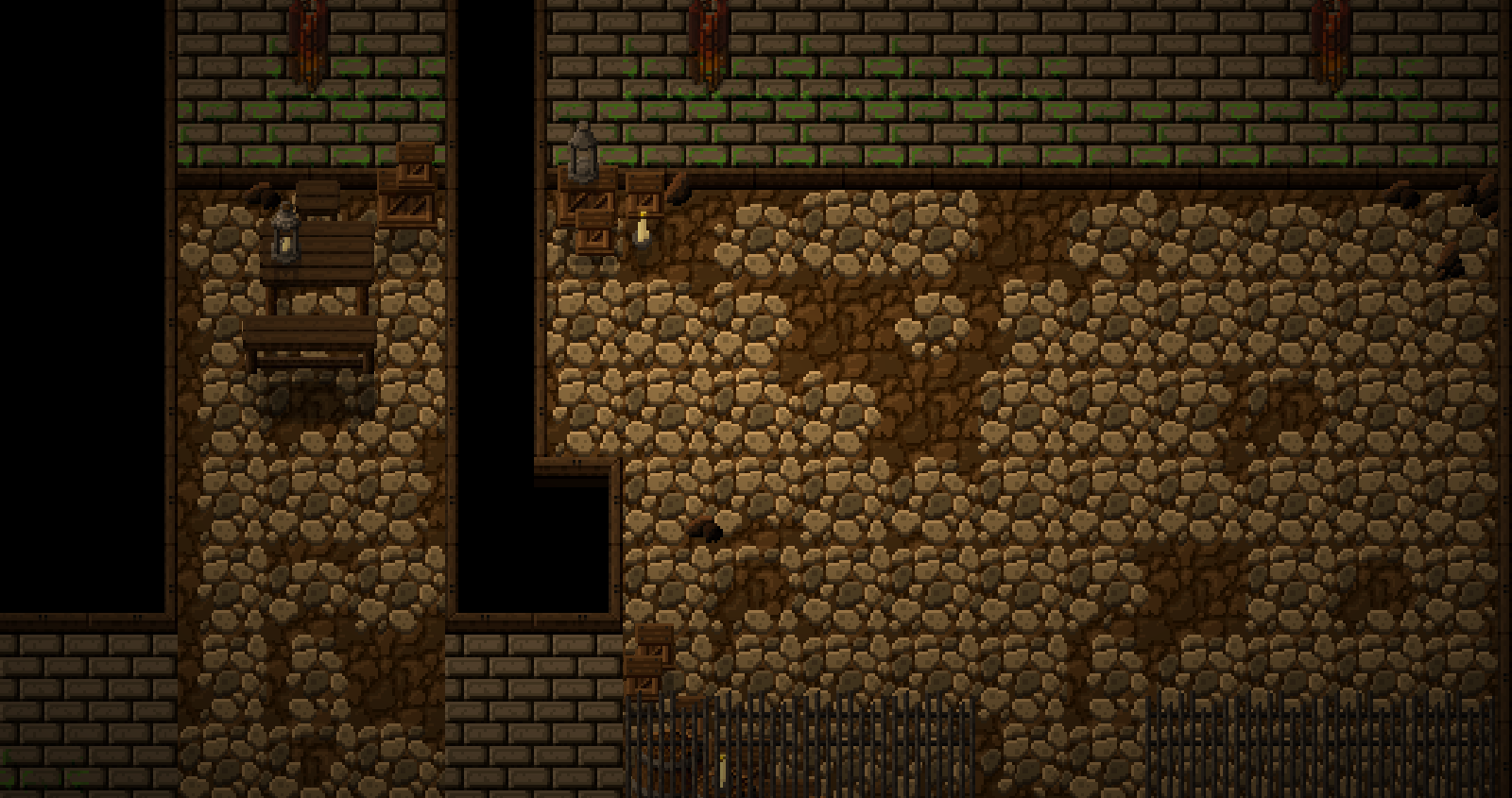 The tower's cellar, discovered from a fall...
