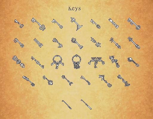 Key & Lockpick Shapes