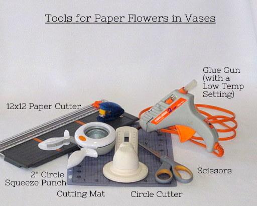 Toos for Paper Flower Fans in Vases