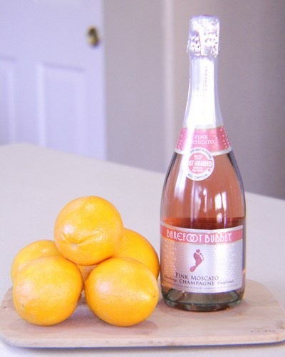 Delicious 2 Ingredient Pink Mimosas -MIY with Melissa