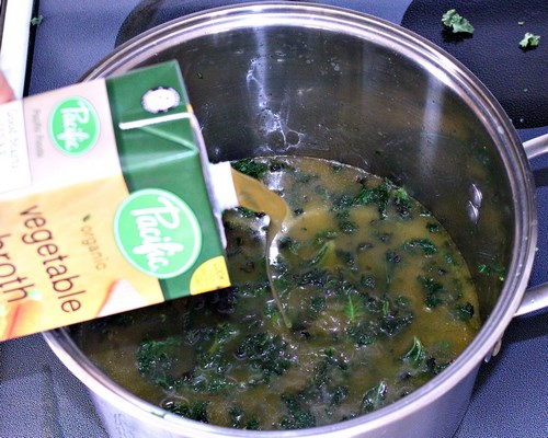 Kale and Parmesan Stracciatella Egg Drop Soup. MIY with Melissa