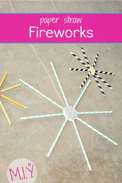 3D Paper Fireworks Craft with Printable | Projects with Kids | 750x500