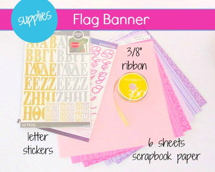 Flag Style Party Banner -MIY with Melissa