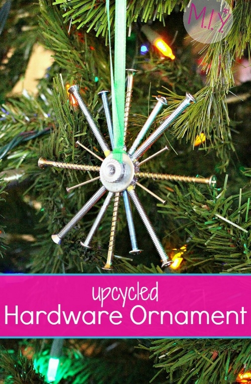 Easy Upcycled Hardware Snowflake Ornament -MIY with Melissa
