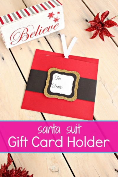 Santa Suit Gift Card Holders -MIY with Melissa