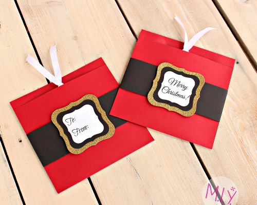 Santa Suit Present Gift Card Holders -MIY with Melissa