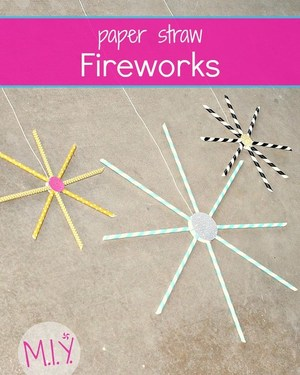 Paper Straw Fireworks -MIY with Melissa